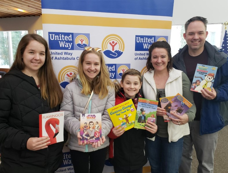 The Ashtabula Arts Center hosted a book drive for UWAC this past winter.